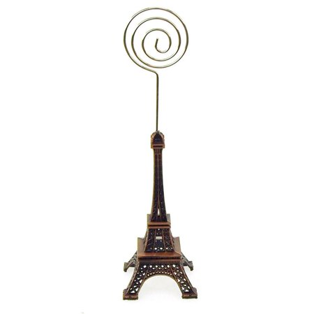 Metal Eiffel Tower Decor Card Holder, 4-inch, Swirl, Brown](Firefly Names)