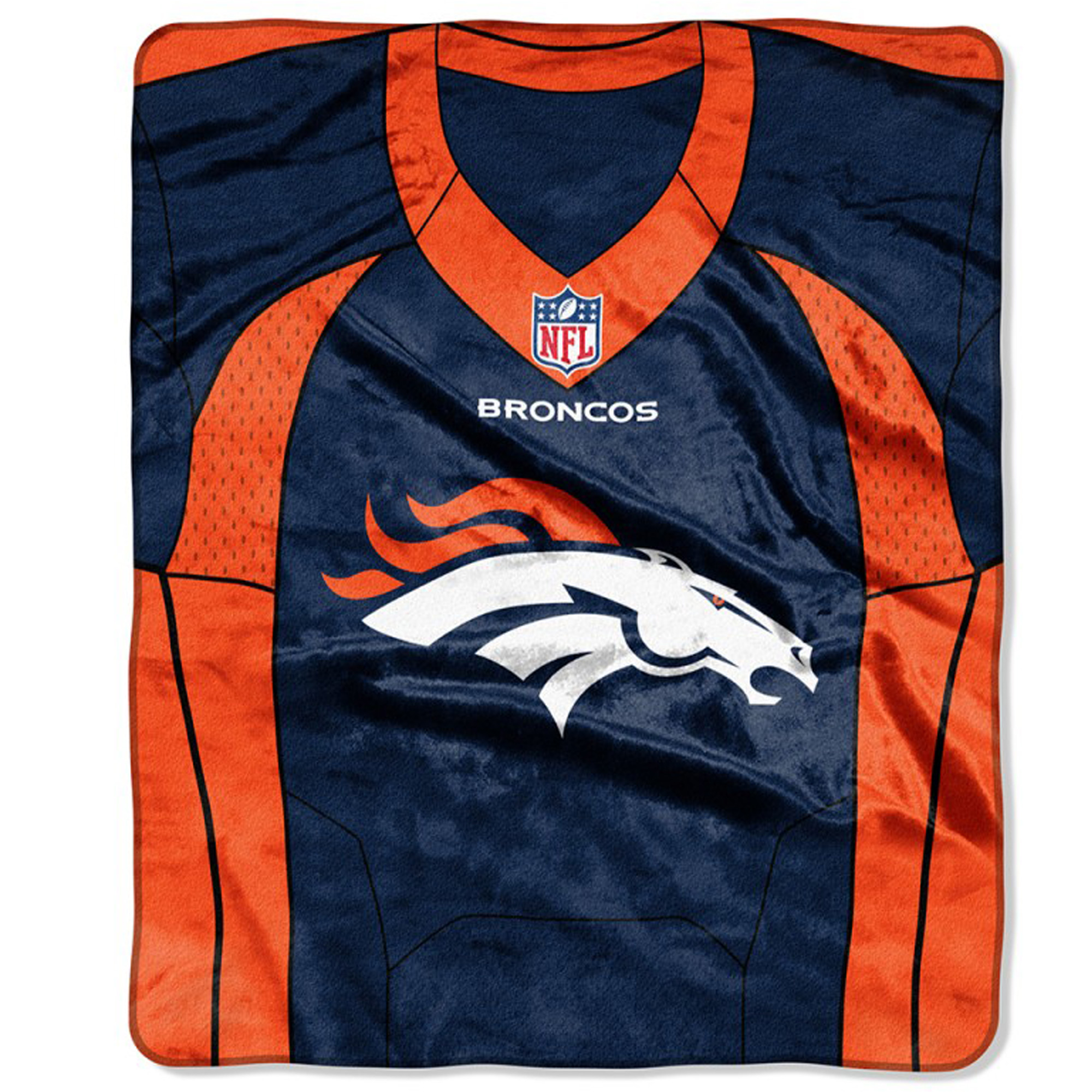 "Denver Broncos The Northwest Company 50"" X 60"" Jersey Plush Blanket - No Size"