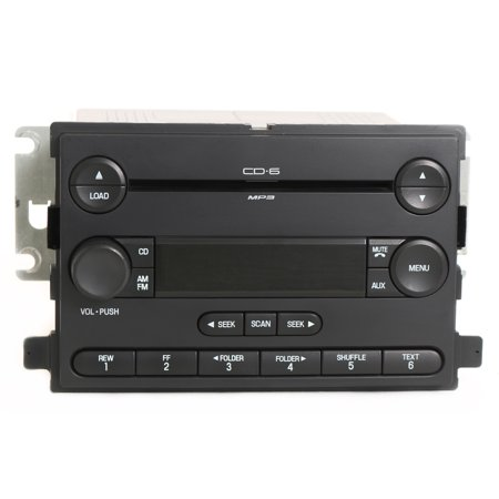 Ford Focus 2006-2007 Radio AM FM 6 Disc CD Player OEM Part Number 6S4T-18C815-AD - Refurbished