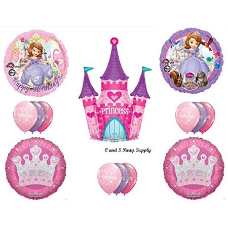 SOFIA First & CASTLE HAPPY BIRTHDAY PARTY Balloons Decorations Supplies Disney - Sofia Balloons