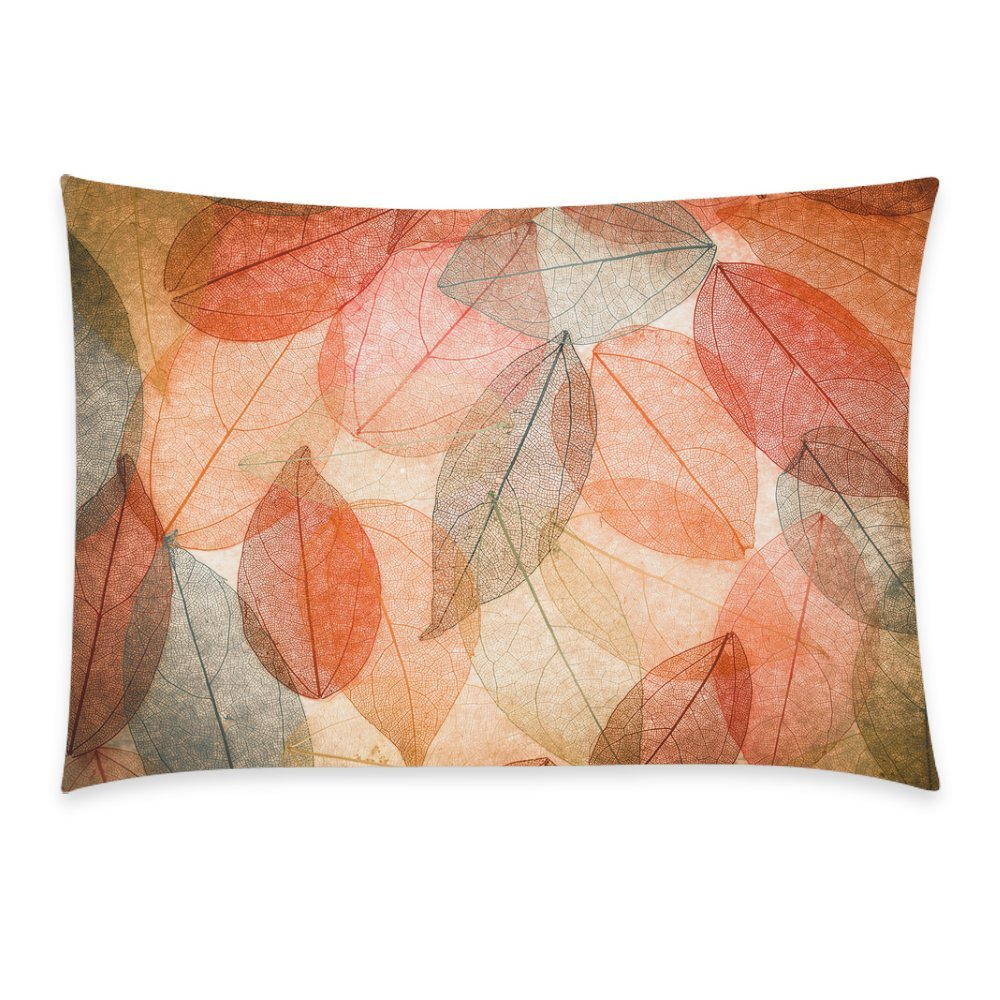 GCKG Abstract Fall Leaves Pillowcase Pillow Cover 20x30 inches,Beautiful Autumn Leaves Pillow Case ative - image 3 of 3