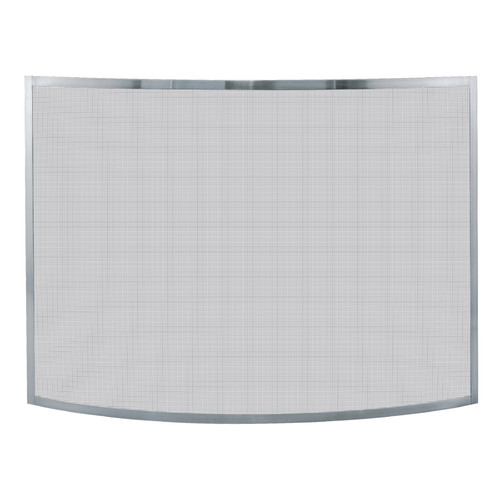 Uniflame S-1613 Curved 1-Piece Fireplace Screen Silver