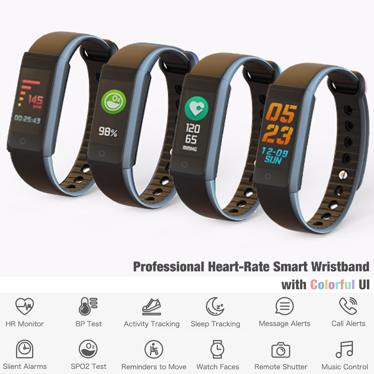 X6s Fitness Tracker by Indigi - Fitness Monitoring Bracelet - Heart Rate Sensor + Pedometer + SMS/Call Alerts + Update