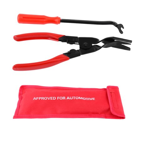 2Pcs/sets Auto Car Interior Door Panel and Trim Clip Removal Plier Upholstery Remover Pry Bar Tool with Comfortable Grip (Vibrating Upholstery Tool)
