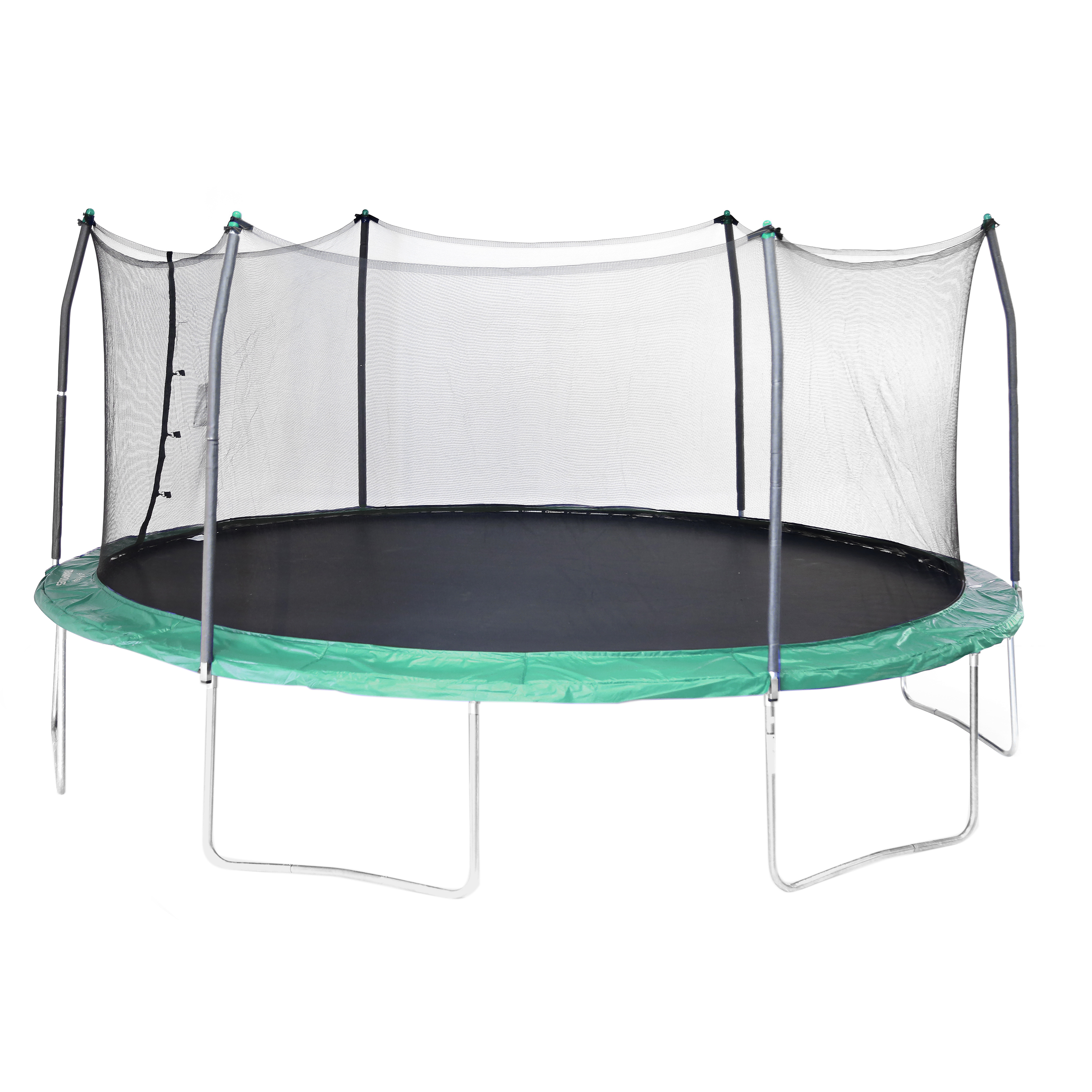 Skywalker Trampolines Oval 17-Foot Trampoline, with Enclosure, Green (Box 1 of 2)