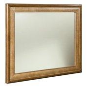 American Drew Grove Point Landscape Mirror in Warm Khaki