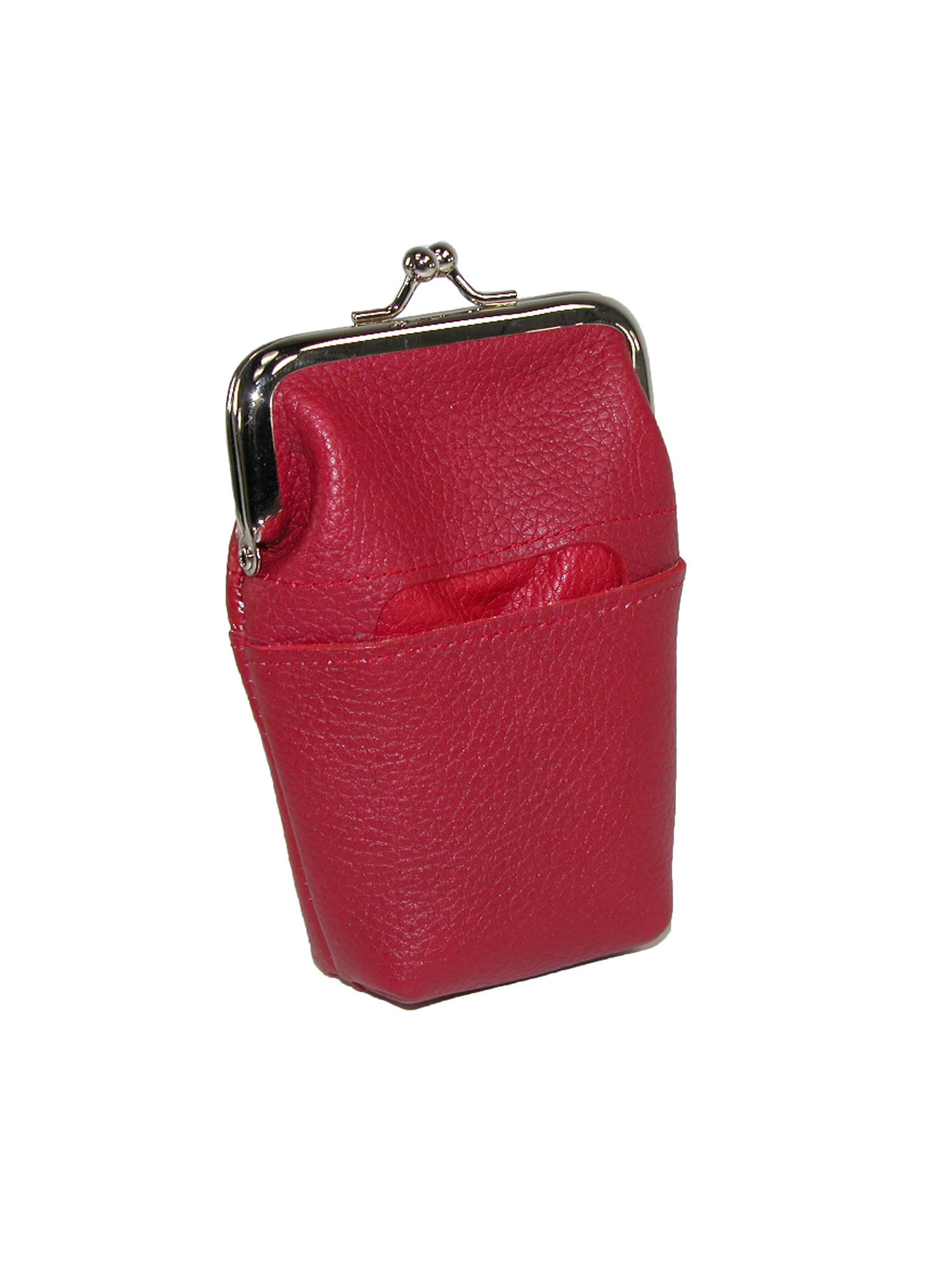 Buxton  Women's Leather Framed Cigarette Case Wallet