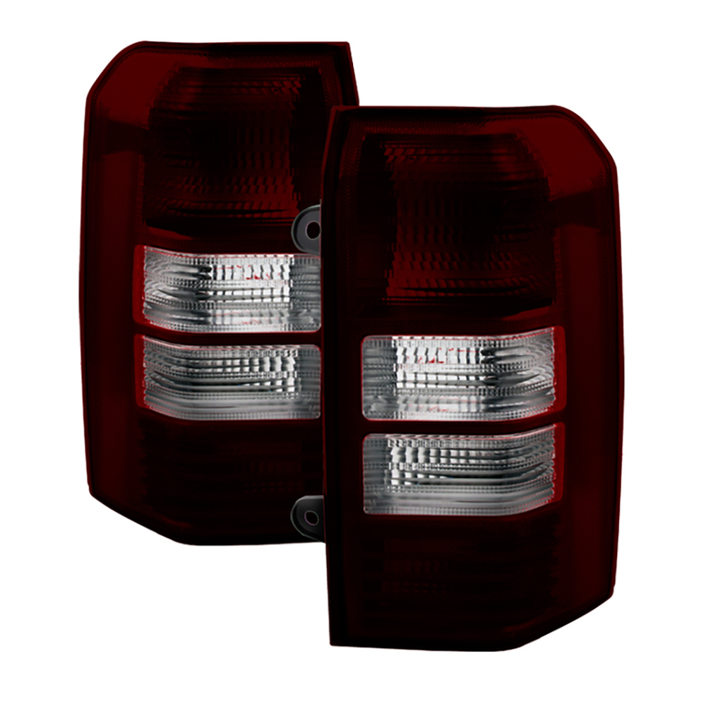 VIPMOTOZ Smoke Red Lens OE-Style Tail Light Lamp Assembly For 2008-2017 Jeep Patriot