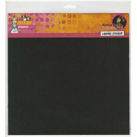 Studio Light Mixed Media Rainbow Designs Canvas Sticker-Black Self Adhesive Sheets 2/Pkg (Design Adhesives)