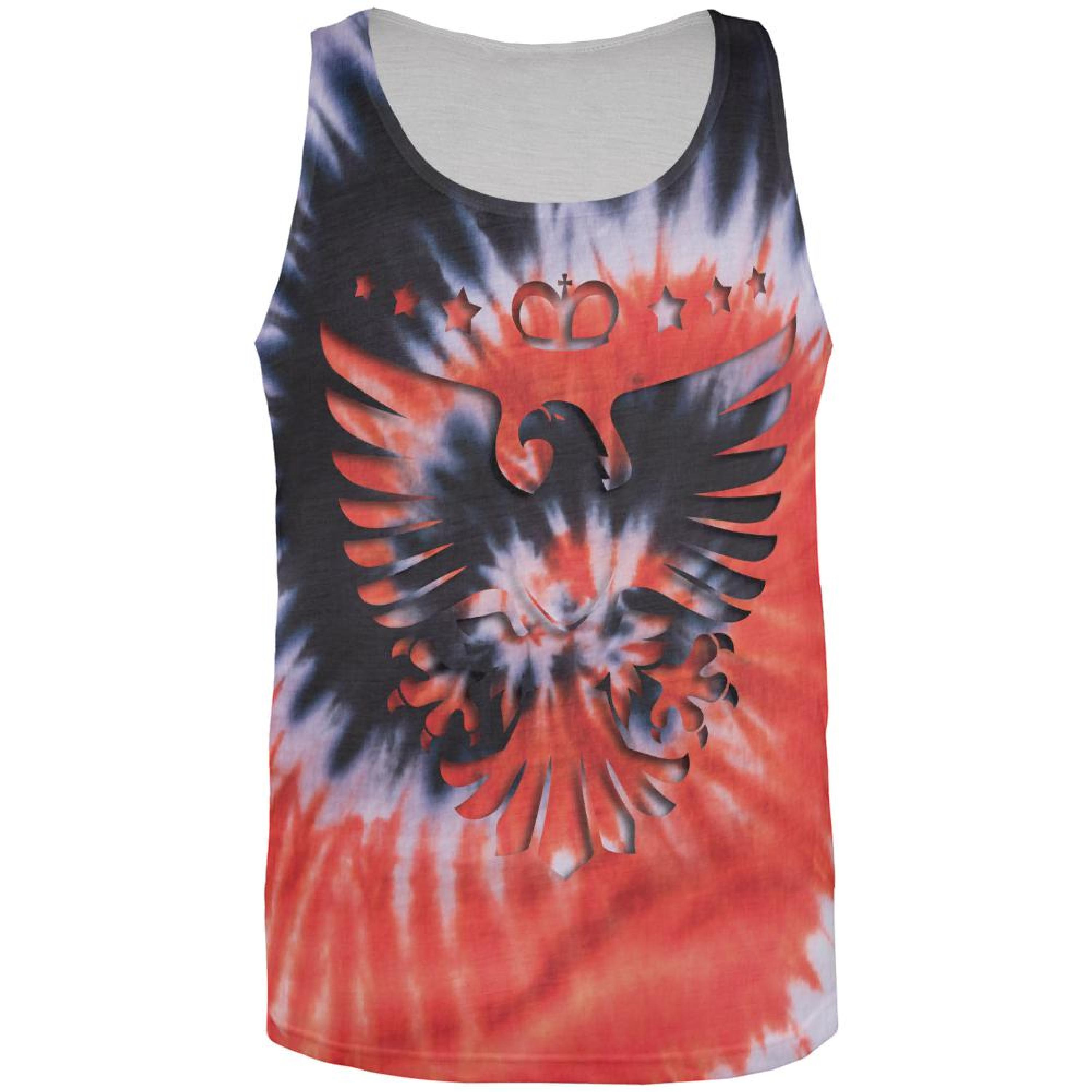 Tie Dye Eagle All Over Adult Tank Top