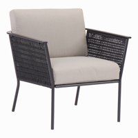 Mainstays Dagna Patio Lounge Chair with Gray Cushions