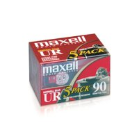 Maxell UR 90min Normal Bias Audio Tape 5/pk