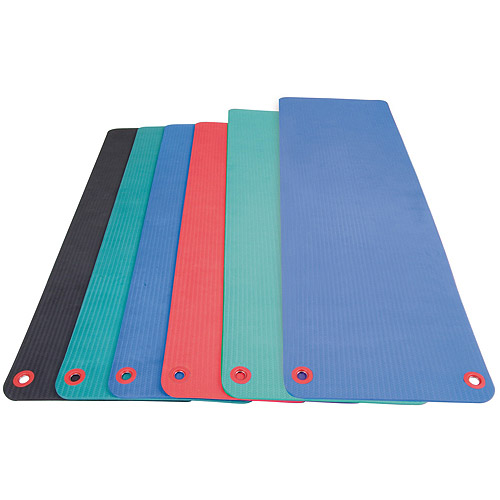 """Aeromat Elite Workout Mat with Eyelets, 20"""" x 48"""" x 0.5"""", Phthalate-Free PVC Closed Cell Foam, Multiple Colors"""