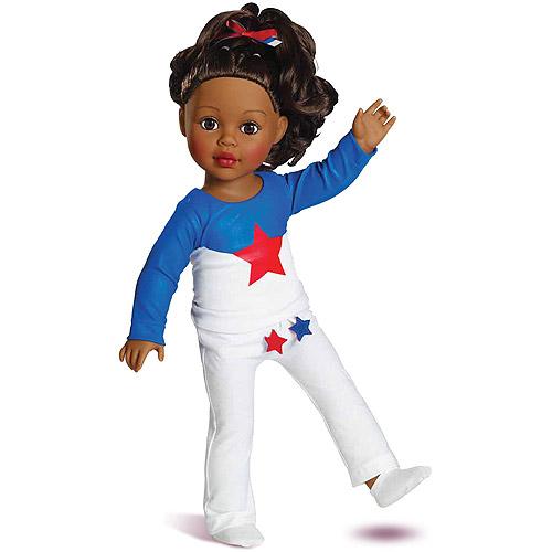 "My Life As Gymnast Dressed 18"" Doll, African American"