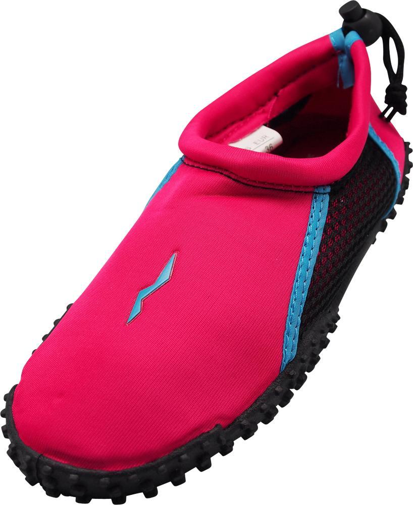 Norty Wave Kids Sizes 11-4 Boys / Girls Slip on Aqua Socks Pool Beach Water Shoe, 40213 Aqua/White / 13MUSLittleKid