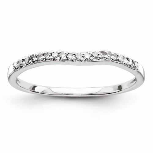 Sterling Silver Diamond Wedding Band