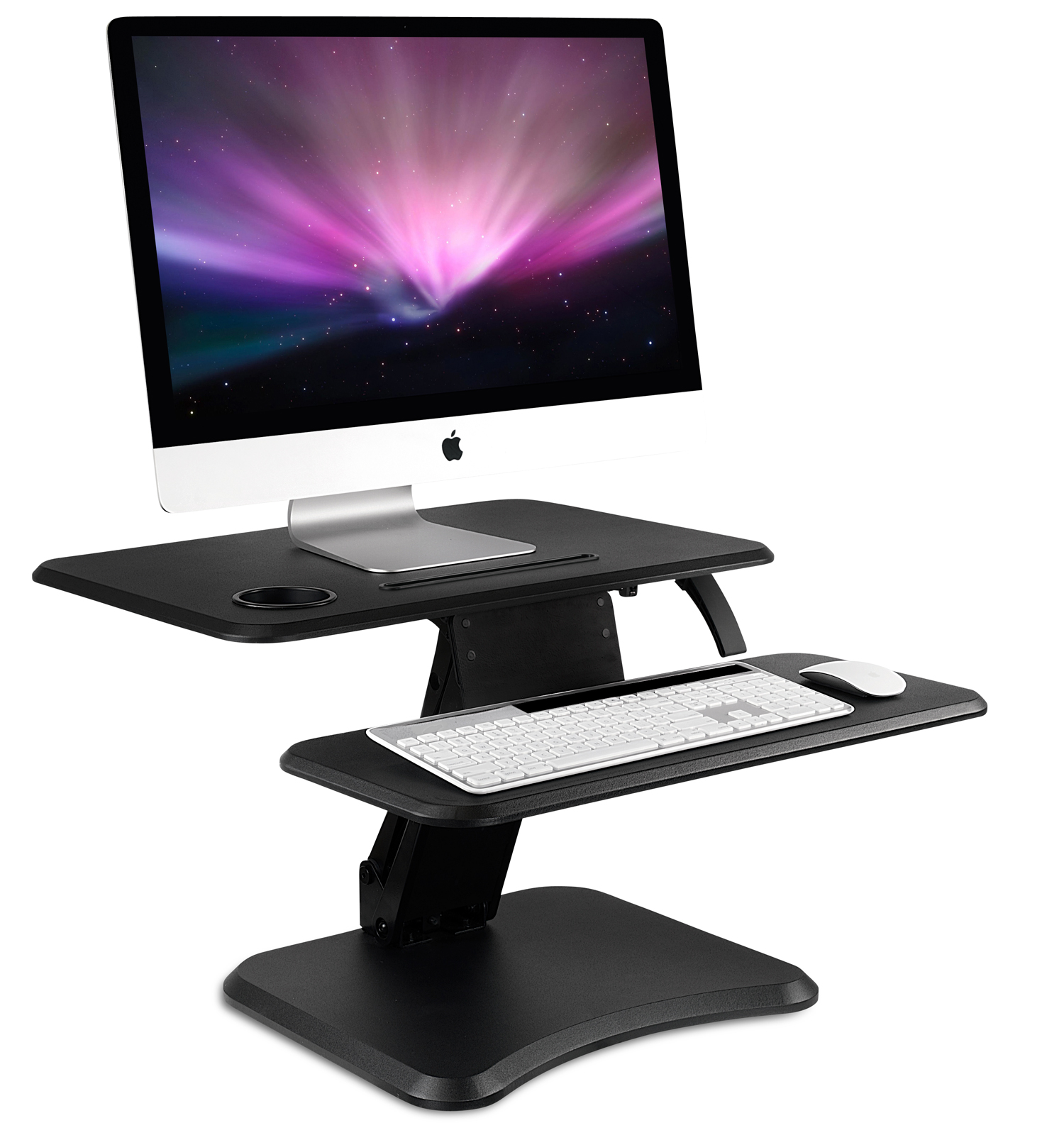 "Mount-It! Height Adjustable Standing Desk Converter Monitor Riser Gas Spring, 25"" Sit to Stand Workstation (MI-7957)"