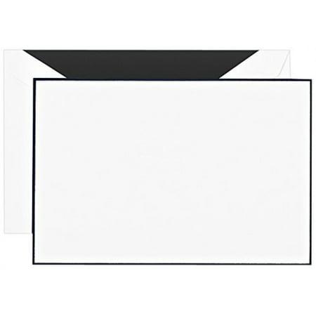(Crane & Co. Black Bordered Correspondence Card (CC3512), Pack of 10)