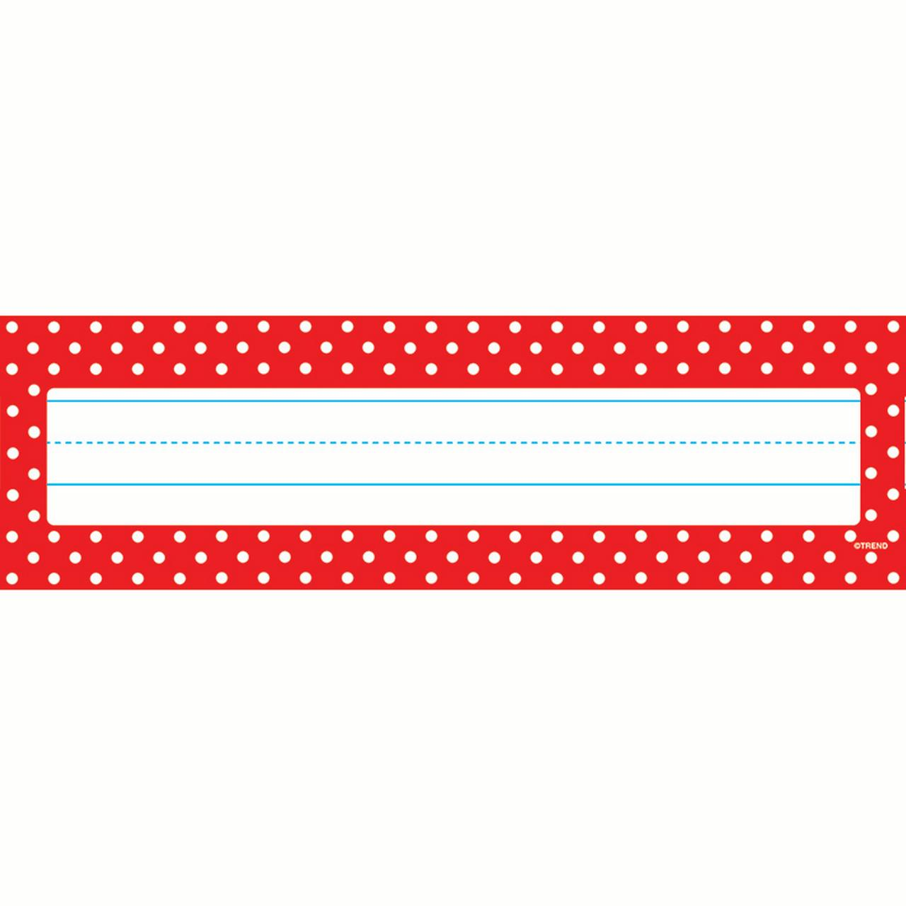 POLKA DOTS RED DESK TOPPERS NAME PLATES