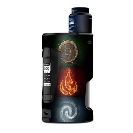 Skin Decal Vinyl Wrap for Geekvape GBox Squonk Kit 200W Vape Kit skins stickers cover/ Elements Water Earth Fire Air ()