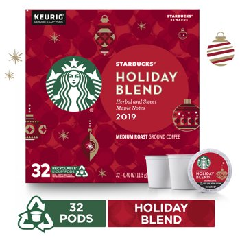 32-Pack Starbucks Holiday Blend Coffee K-Cup Pods