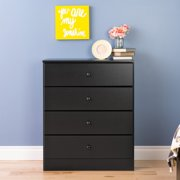 Prepac Astrid 4-Drawer Dresser, Deep Black