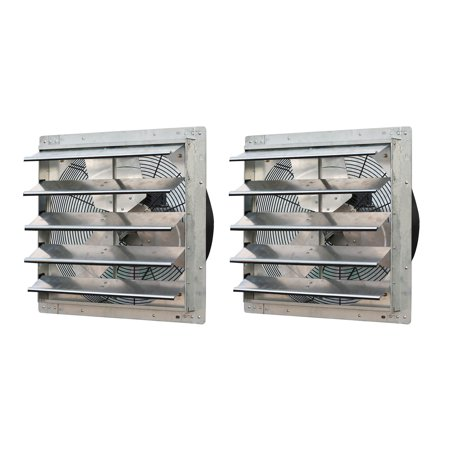 2 Stage Variable Speed Furnace (iLiving 20 Inch Variable Speed Wall Mounted Steel Shutter Exhaust Fan (2 Pack) )
