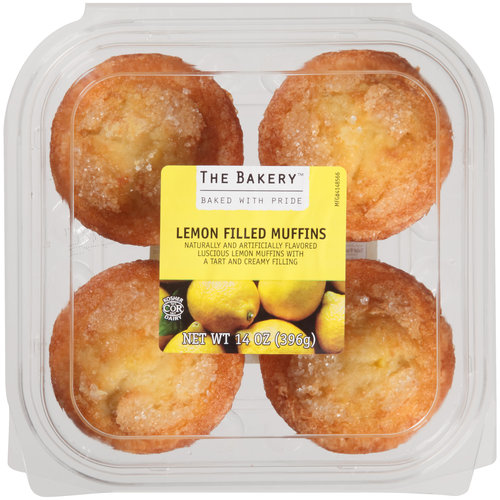 The Bakery Lemon Filled Muffins, 4 count, 14 oz