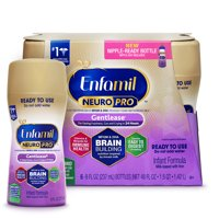 Enfamil Neuropro Gentlease Baby Formula, For Fusiness, Gas & Crying - Ready to Use 8 oz (6 Bottles)