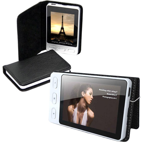 "Cobra Digital 2.4"" Portable Digital Photo Frame with Leather Case"