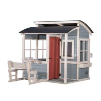 Backyard Discovery Breezy Point Wooden Playhouse with Kitchen