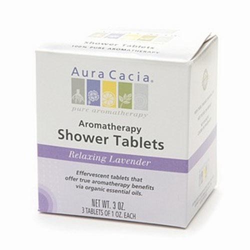 Aura Cacia Aromatherapy Shower Tablets, Relaxing Lavender - 3 Oz