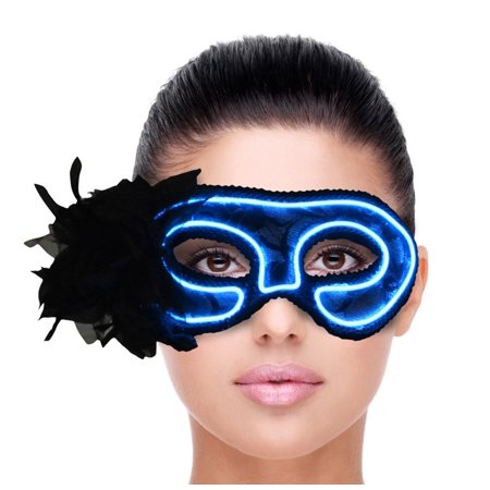 Halloween Mask for Women Light Up Venetian Lace Mask LED Party Eye Mask