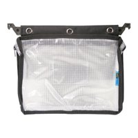 Advantus Expanding Zipper Pouch, Clear Mesh, Black