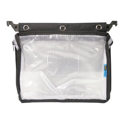 Advantus Expanding Zipper Pouch Clear Mesh Black