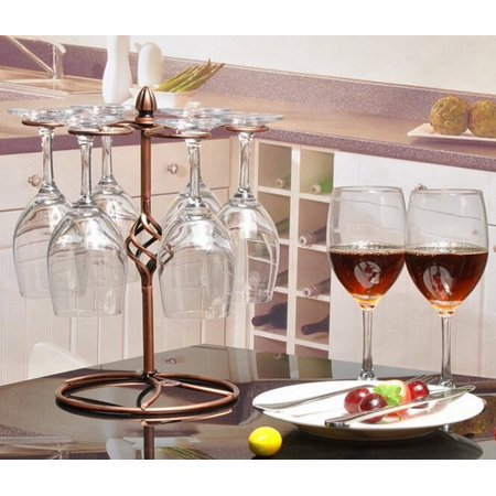 Dazone Metal Table Top Wine Glass Holder Rack Holder With 6 Hooks