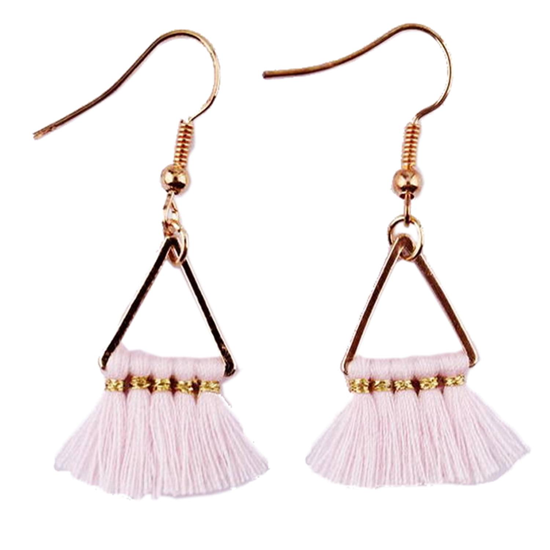 Long Bold Earrings Tassel Boho Earrings Pink Gold Royal Blue Jewelry Unique gift for women EXCLUSIVE EARRINGS for women