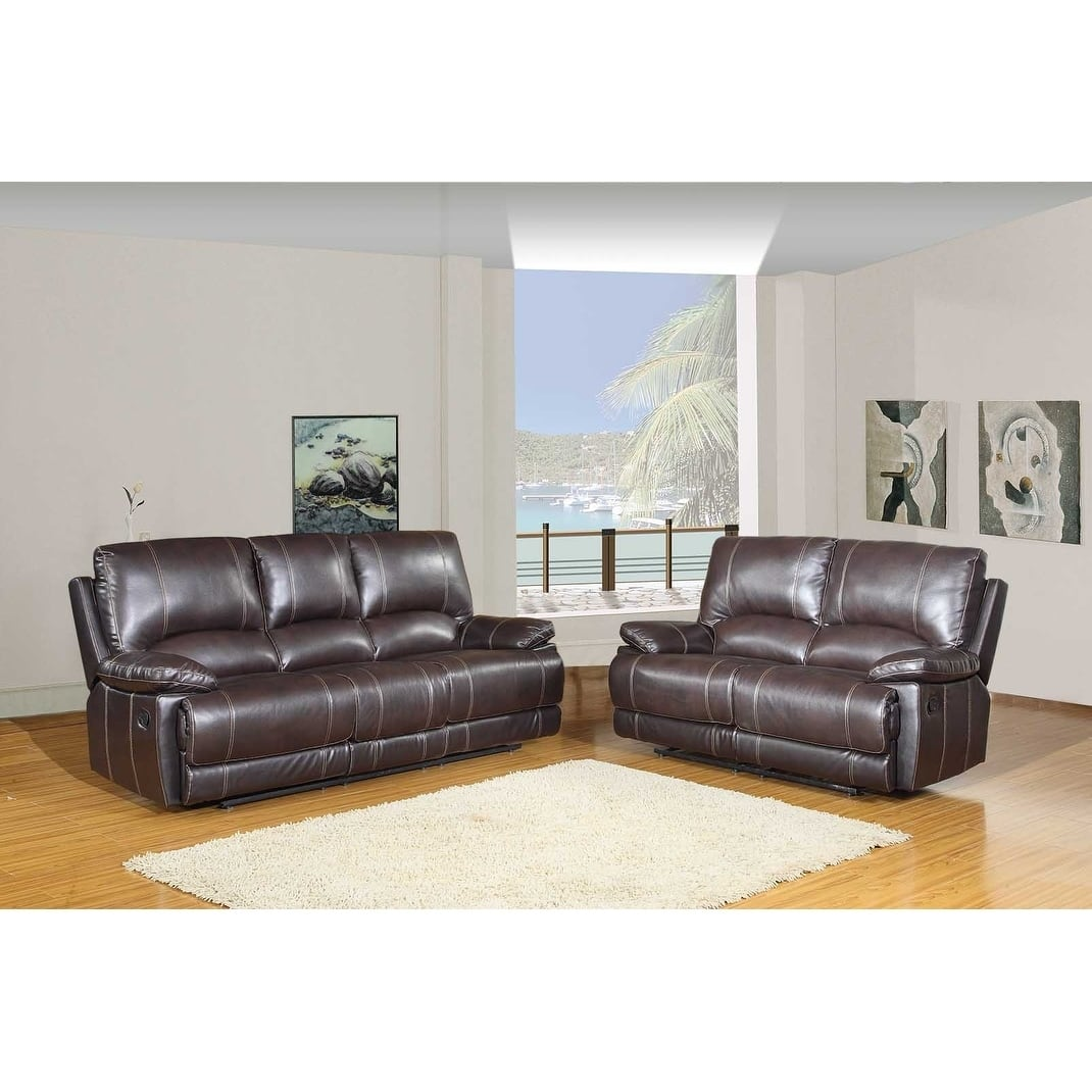 Leather Air/Match Upholstered 2-Piece Living Room Recliner Sets