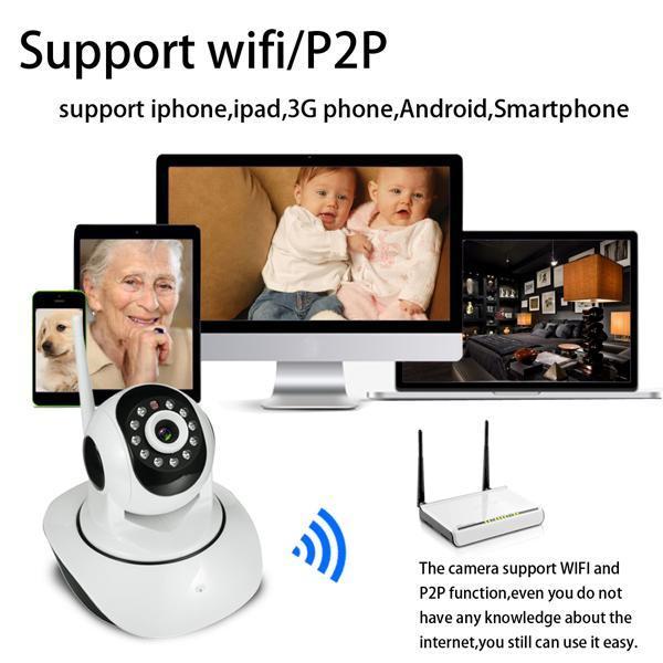 WIFI Wireless Camera Two-way Voice Network Multi-stream Baby Monitor Camera Night Vision HD 720P Camera MAEHE TPBY