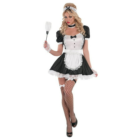 Sassy Maid Adult Costume - Small (French Maid Costume Halloween)