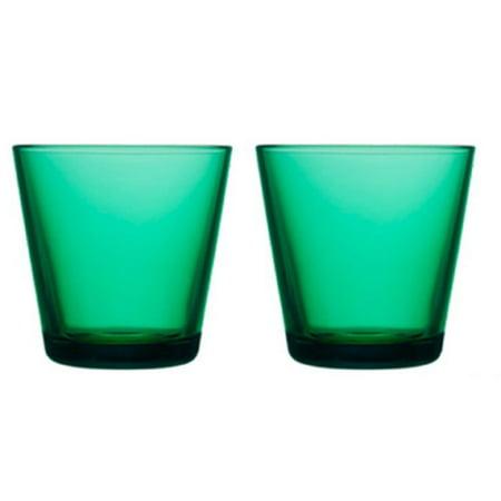 Kartio Emerald Tumbler 0.21L (Pair), Designed by Kaj Franck By (Iittala Tumbler Set)