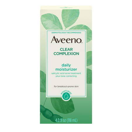 Aveeno Clear Complexion Acne-Fighting Face Moisturizer with Soy, 4 (Best Face Moisturizer For Acne)