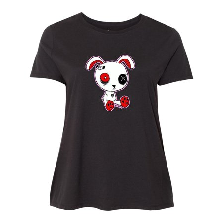 Goth Bunny Women's Plus Size T-Shirt (Goth Plus Size)