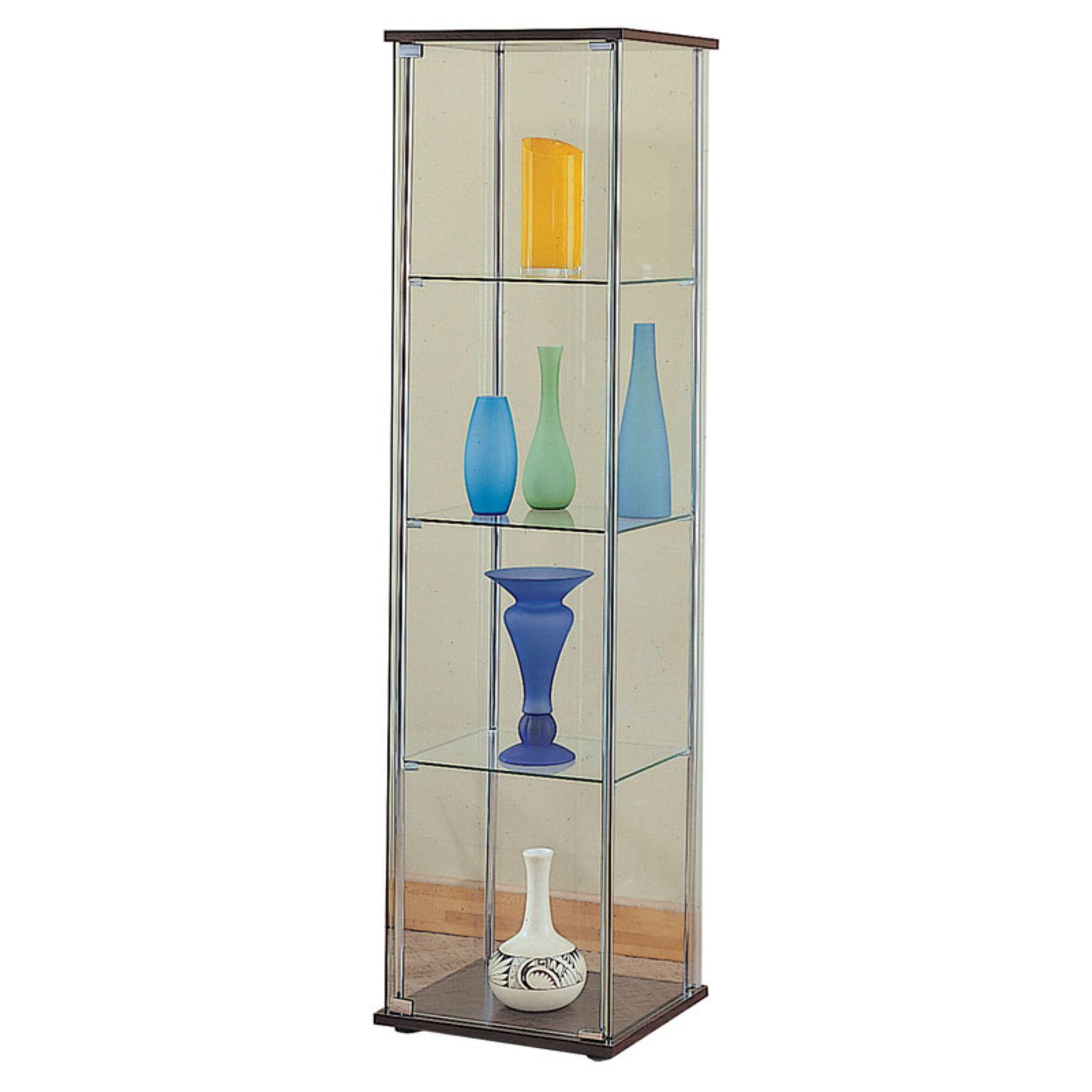 Coaster Company Curio Cabinet, Chrome Cappuccino by Coaster Company