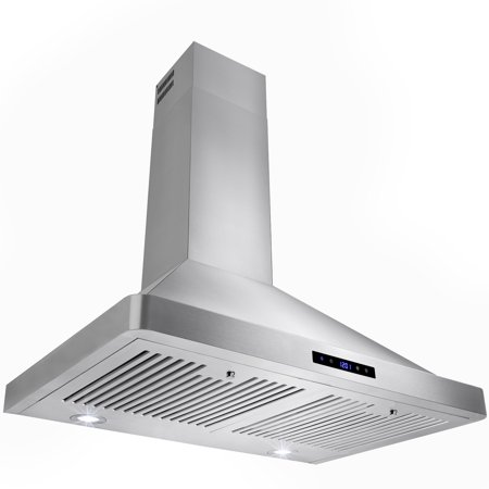 """AKDY 30"""" European Stainless Steel Wall Mount Range Hood with Touch Control Panel"""