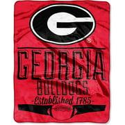 Georgia Bulldogs 55x70 Slk Throw Georgia