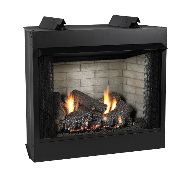 Deluxe 32 VF FF Firebox, BRCH Log Set, Liner & MNUL SG Burner - LP