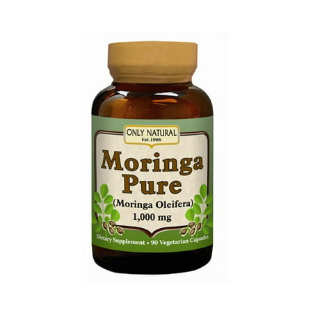 - Only Natural Moringa Pure Vegetarian Capsules, 1000 Mg, 90 Ct