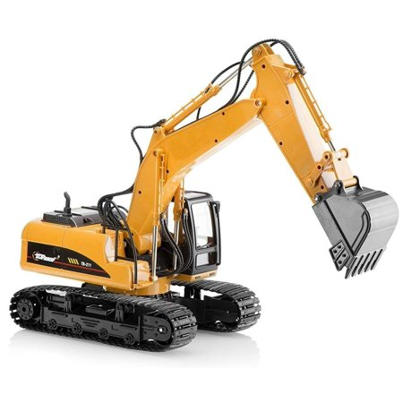 Top Race Metal Diecast Excavator Construction Truck Toy Tractor, Heavy Metal Excavator Model Free Wheeler Die Cast Construction Toy 1:40 Scale (TR (Die Cast Promotions 1 64 Scale Trucks)