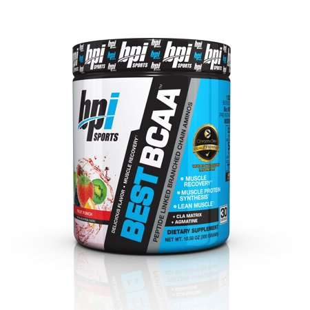 BPI Sports Best BCAA Amino Fruit Punch, 30 (Best Supplements To Build Muscle Fast)